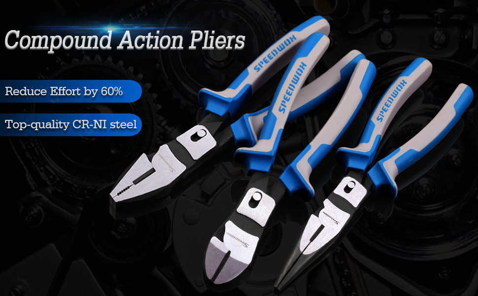 Compound Action Lineman's Pliers