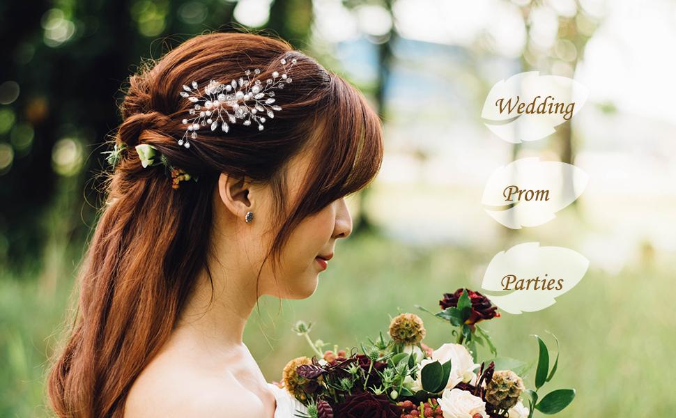 Bridal Hair Clip Silver For Wedding