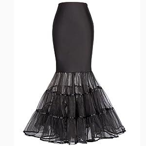 black wedding dress petticoat
