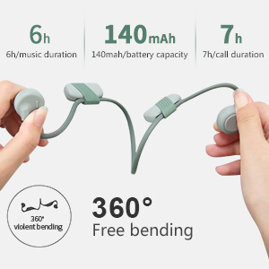 Long battery life Display of the bone condution headsets