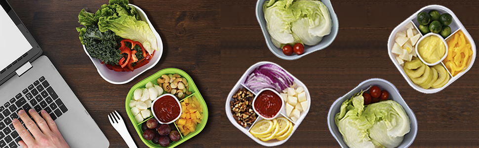 Acupteatech BPA-Free Salad Lunch Container