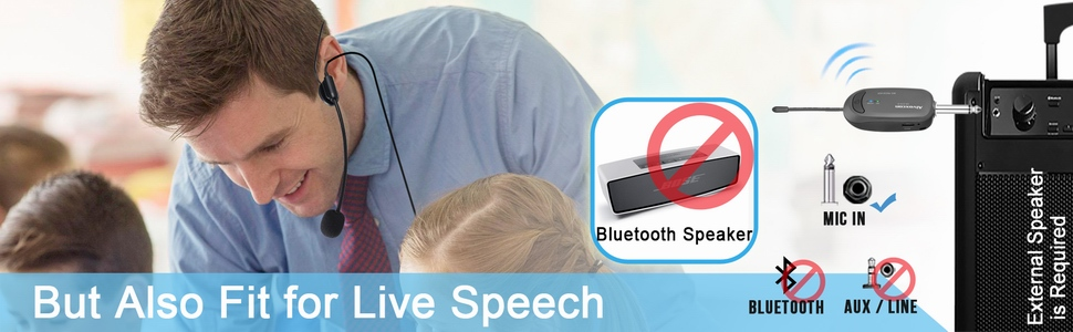 wireless microphone for speech, presentation
