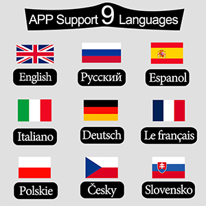 APP Supported 9 Different Languages