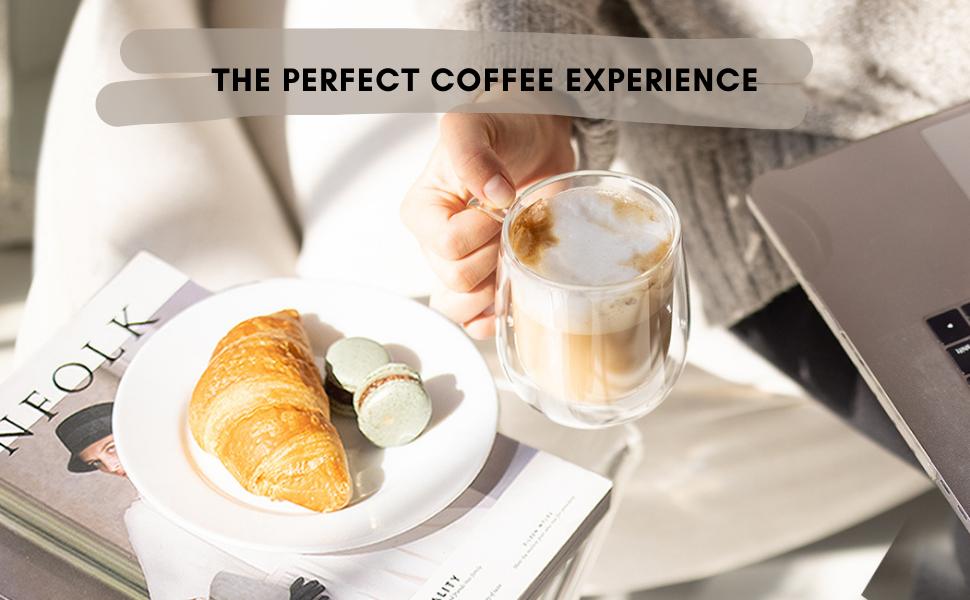 kaffe, products, mug, coffee, croissant, laptop, macaron, latte