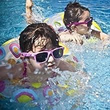 kids in pool swimming