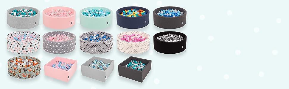 Beige KiddyMoon 50 /∅ 7Cm Balles Color/ées Plastique pour Piscine Enfant B/éb/é Fabriqu/é en EU