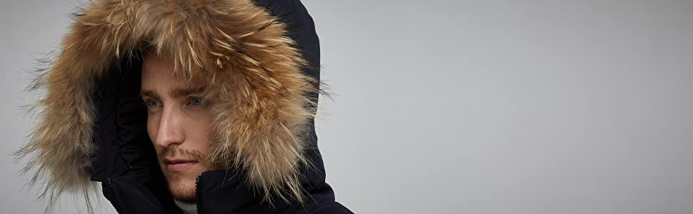winter parka for men with hood