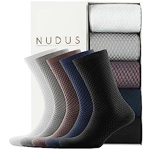 nudus underwear ankle no show quarter dress black colorful bamboo socks