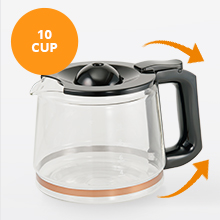 10 cup glass carafe good capacity