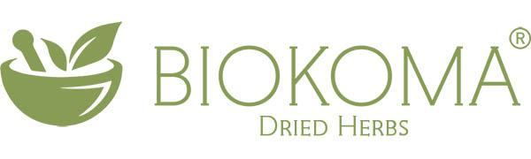 biokoma logo dried herb organic health bio gmo herbal tea