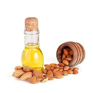 Sweet Almond Oil, calcium, magnesium, phosphorus, Vitamin E, soften, hydrate