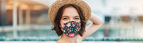 Face Mask for Women Men Washable Reusable Breathable