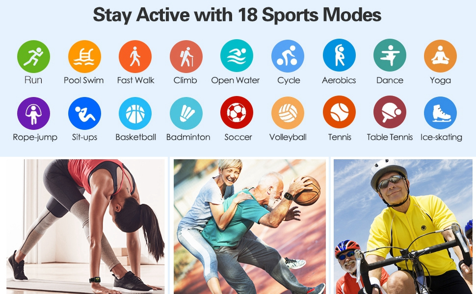 18 Sports Mode Smart Watches