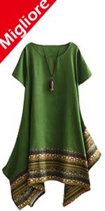 Cotone Lino Vestito