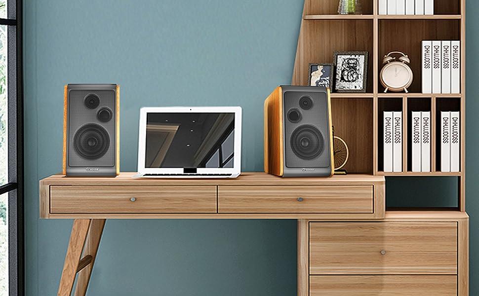 Powerful bookshelf speakers