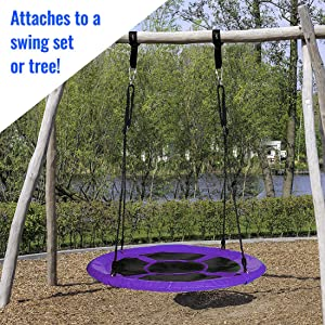 attaches to a swing set