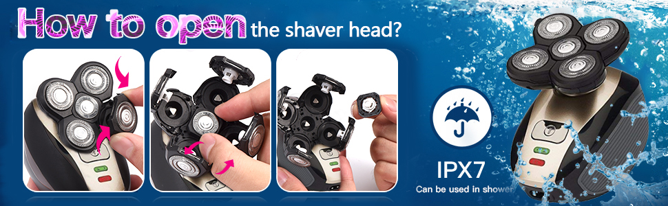 Open shaver Head