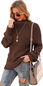 Womens Turtleneck Pullover Sweaters