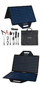 60W portable solar panel for car boat camping camper RV