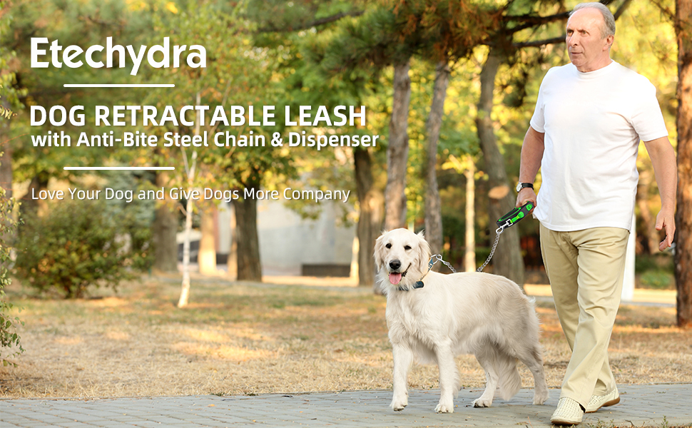 Retractable dog traction rope 5 meters large dog puppy traction steel chain