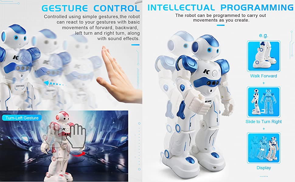 gesture control programmable robot toy