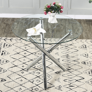 round glass dining table small