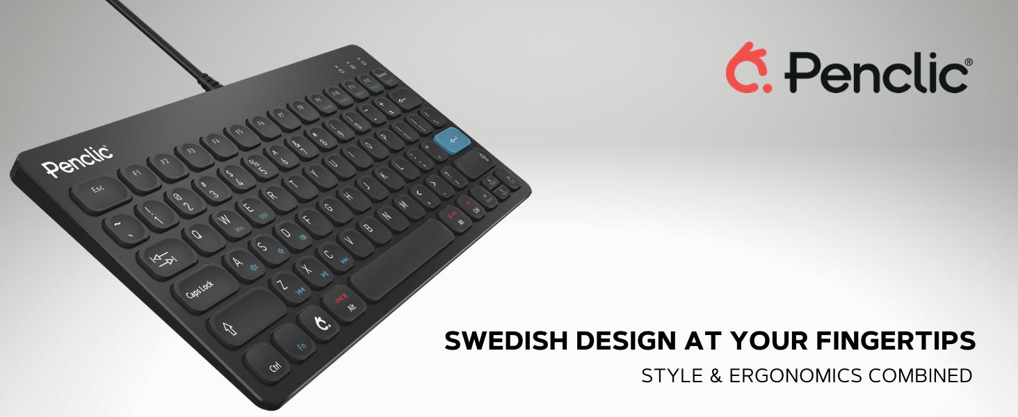 Penclic, Keyboard, Wired Keyboard, Quality Keyboard, Compact Keyboard