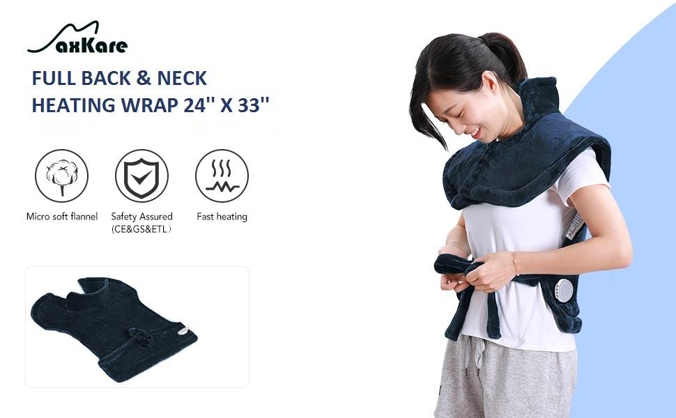 Heizkissen für Rücken Schulter Nacken Abschaltautomatik Wärmekissen Heizschal und Schnelle