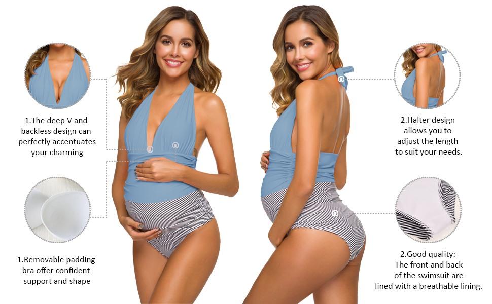 One Piece Maternity Swimsuit