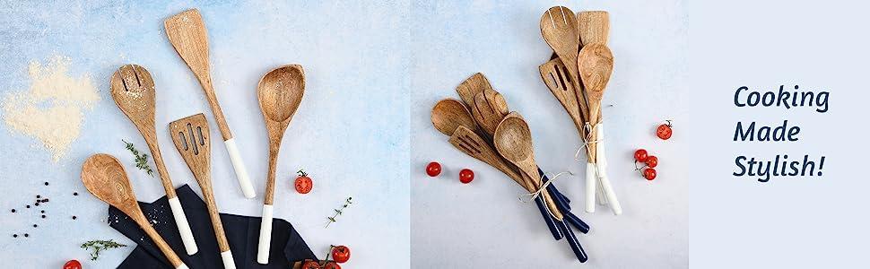 wooden spoons for cooking, cookware set, kitchen utensil set, cooking utensils, wooden stir sticks