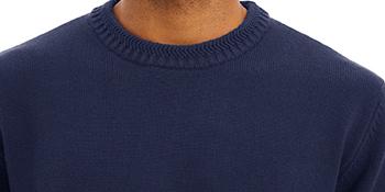 TACVASEN Men's Sweater Crewneck Warm Cotton Classic Pullover Striped Casual Slim Fit Winter Fall