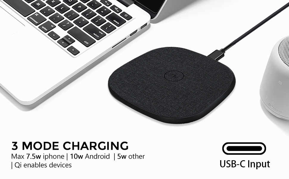 Unipad Wireless charger with C-Type Port