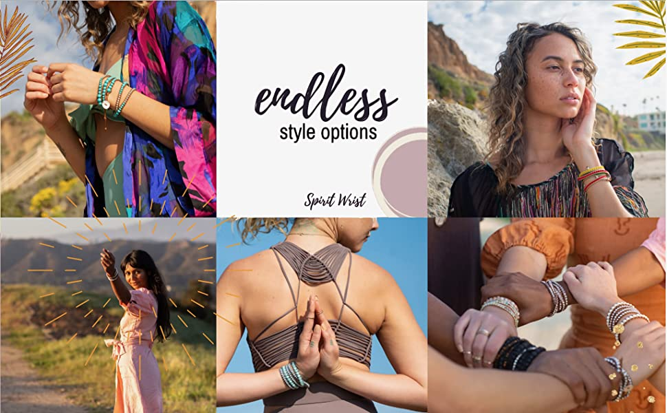 Different female models showing the endless style options of Spirit Wrist