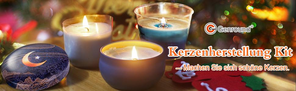 10 cm und 15 cm Set zur Herstellung von Kerzen Kerzendochte zum Herstellen von Kerzen 100 St/ück mit 100 doppelseitigen Dochtaufklebern und 2 Dochthaltern Kerzenzubeh/ör
