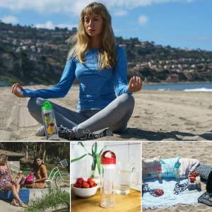infuser top flip yoga glass premium