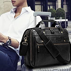 laether briefcases