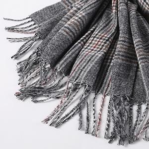 blanket scarf for men with fringe