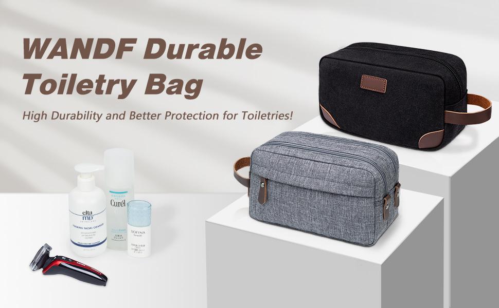 Toiletry Bag Small Nylon Dopp Kit Lightweight Shaving Bag for Men and Women