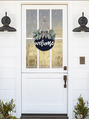 Welcome Home Sign Porch