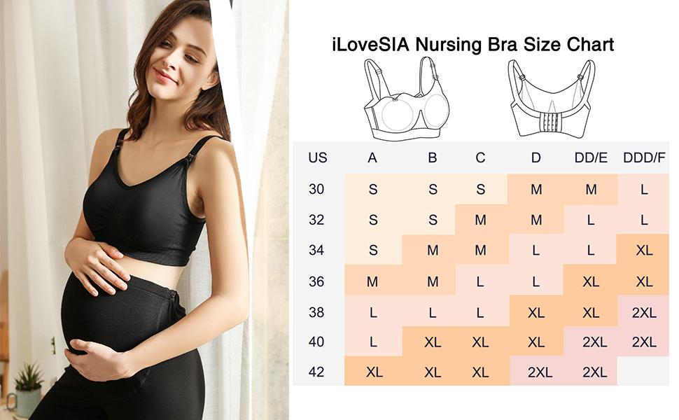 iLoveSIA Nursing bra size chart