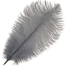 Grey Ostrich Feathers