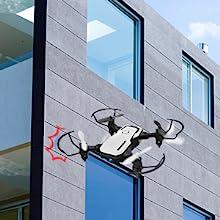 Flashandfocus.com ec6cf245-c267-46d4-bf2f-52a3cedb31e2.__CR0,0,300,300_PT0_SX220_V1___ SIMREX X300C Mini Drone RC Quadcopter Foldable Altitude Hold Headless RTF 360 Degree FPV Video WiFi 720P HD Camera 6…