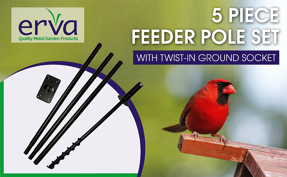 5 piece pole set, feeder pole, ground socket