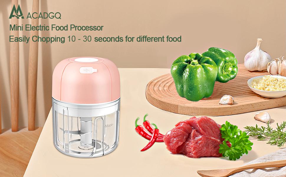mini food processor masher crusher small  Portable Electric Garlic mincer