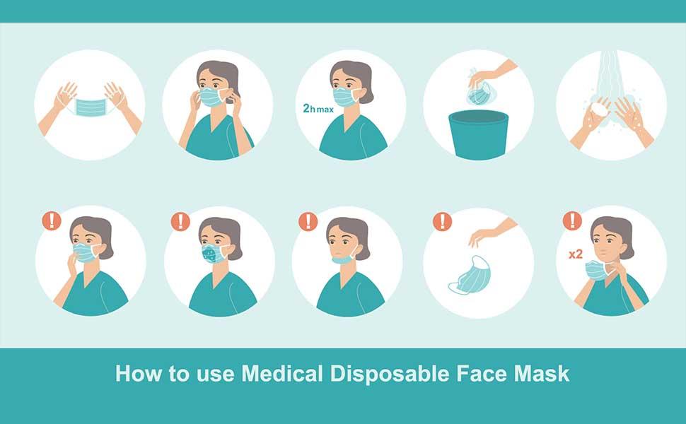 disposable mask surgical masks face masks inscturction personal care