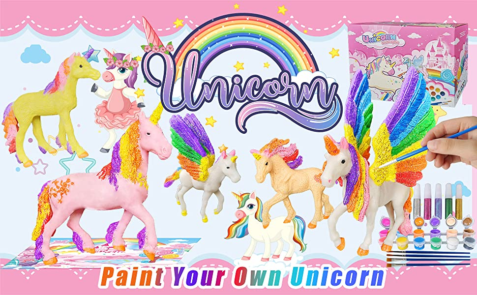Kids are naturally interested in unicorn and painting.