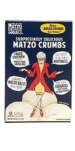 Matzo Crumbs Mix Ball Soup Mix Flats Chips Crackers Kosher Passover Nut Free Dairy Free Sugar Free