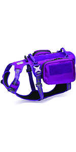purple backpack harness