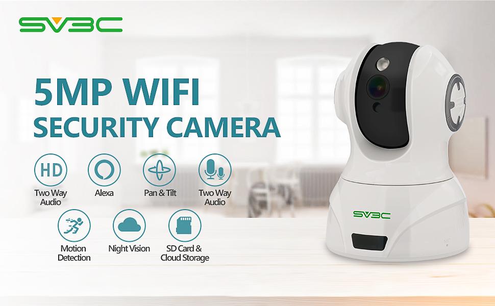 sv3c 5mp indoor wifi camera