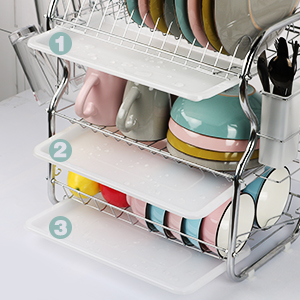 dish rack with drianboard